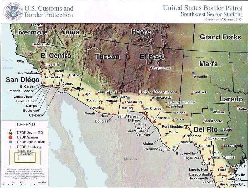 Border Patrol Stations