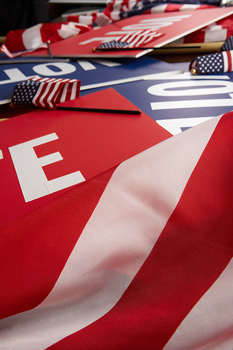 Politics vote signs
