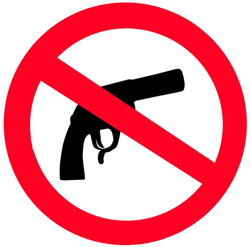 Gun no gun sign